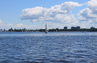 Sailboats on Lac Deschenes